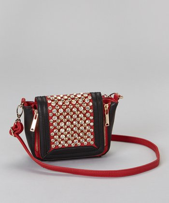 Red Rhinestone Crossbody Bag