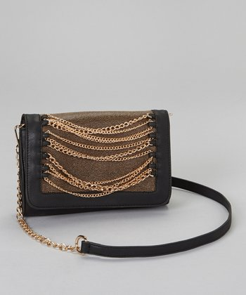 Black & Gold Chain Convertible Clutch