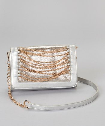 Silver & Gold Chain Convertible Clutch
