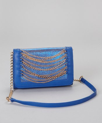 Cobalt & Gold Chain Convertible Clutch