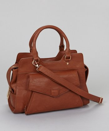 Dark Brown Box Shoulder Bag