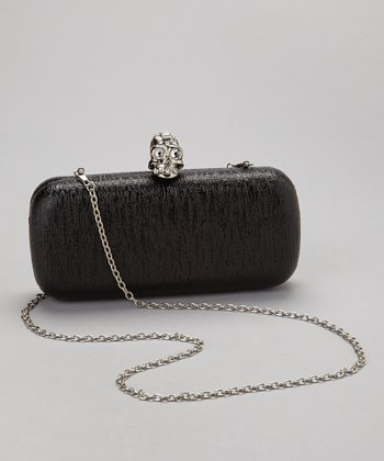 Black Skull Box Clutch