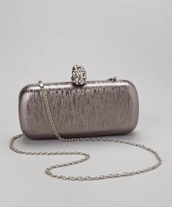 Pewter Skull Box Clutch