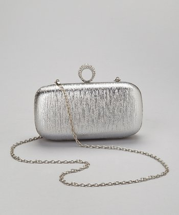 Silver Crystal Ring Box Clutch