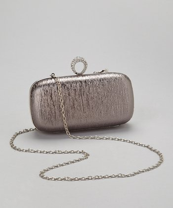 Pewter Crystal Ring Box Clutch