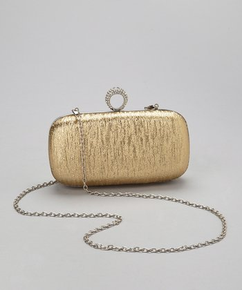 Gold Crystal Ring Box Clutch