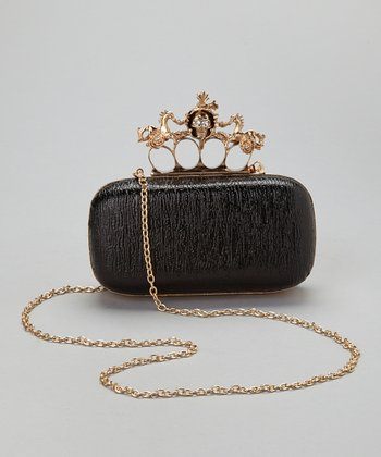 Black Skull Knuckle Box Clutch