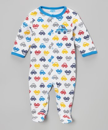 Blue Car Snuggle 'N' Play Footie - Infant