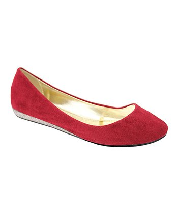 Red Sophia Ballerina Wedge Flat - Kids