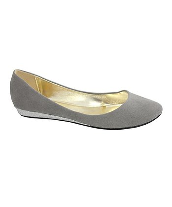 Gray Sophia Ballerina Wedge Shoe - Women