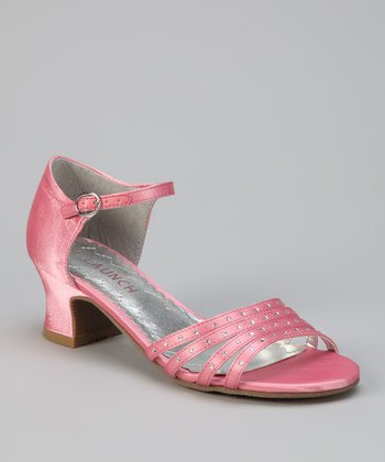Pink Satin Sandal - Kids