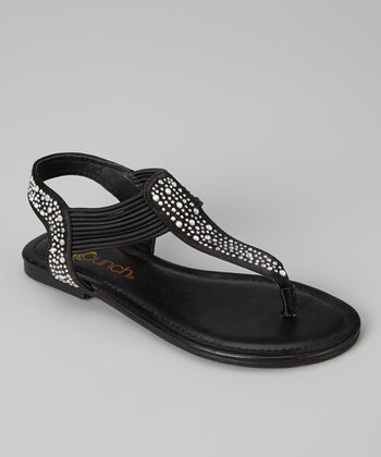 Black Savannah Sandal - Kids