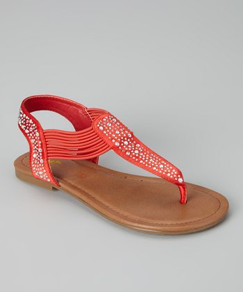 Red Savannah Sandal - Kids