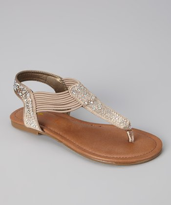 Taupe Savannah Sandal - Kids