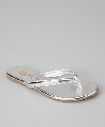 Silver Metallic Kylie Flip-Flop