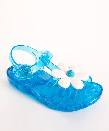 Blue Daisy Jelly Sandal