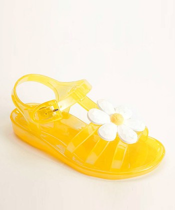 Yellow Daisy Jelly Sandal