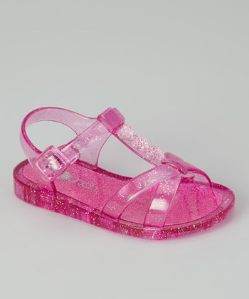 Pink Sparkle Jelly Sandal - Kids