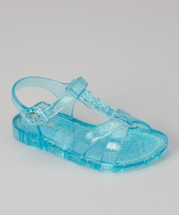 Turquoise Sparkle Jelly Sandal