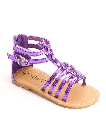 Purple Gladiator Sandal