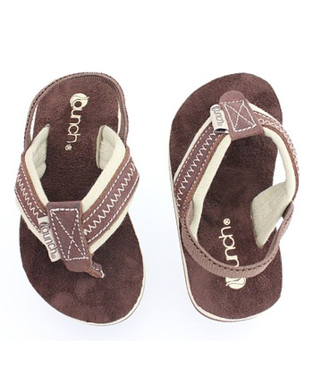 Brown Heel-Strap Flip-Flop - Kids