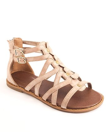 Tan Gladiator Sandal - Kids