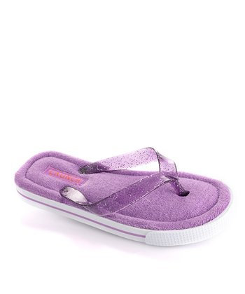 Purple Sparkle Flip-Flop