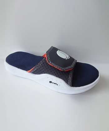 Navy Memory Foam Super Slide - Kids