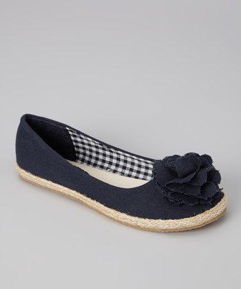 Navy Lulu Flat - Girls