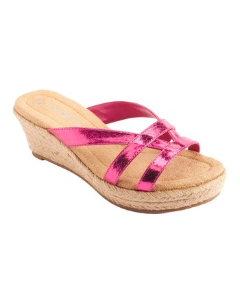 Pink Wedge Sandal