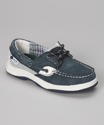 Navy Skippers Boat Shoe - Kids