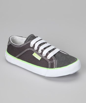 Gray Gants Suede Sneaker - Boys