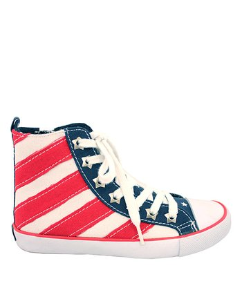 Stars & Stripes High-Top Sneaker - Women