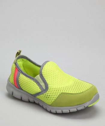 Lime & Gray Splashers Slip-On Shoe