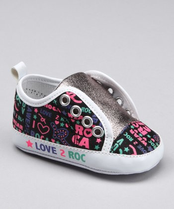 Black & Pink 'Love 2 Roc' Sneaker