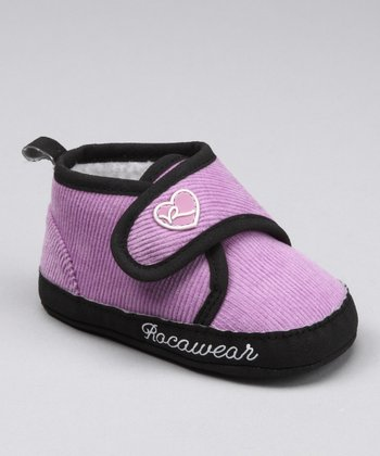 Purple & Black Heart Strap Sneaker