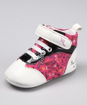 Pink & White High-Top Sneaker