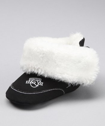 Black & White Faux Fur Booties