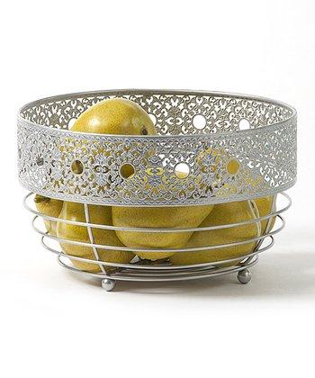 Victorian Lace Round Basket