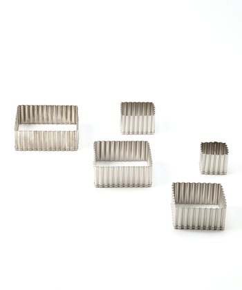 Fluted Square 5-Piece Cutter Set