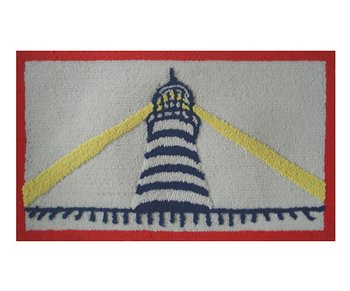 Red & Navy Lighthouse Rug