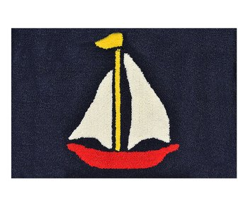 Navy & Red Sailboat Rug
