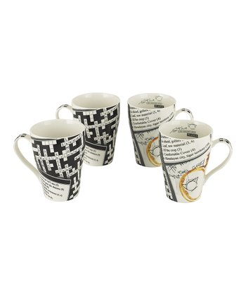 Crosswords 15-Oz. Mug - Set of Four