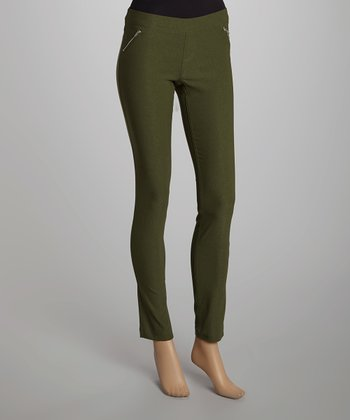 Army Green Millennium Skinny Pants