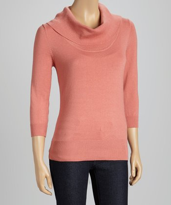 Rose Three-Quarter Sleeve Turtleneck