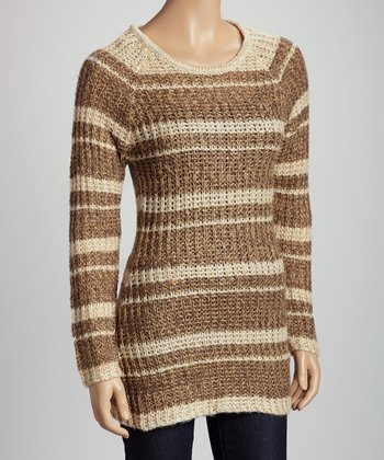 Brown & Camel Stripe Sweater