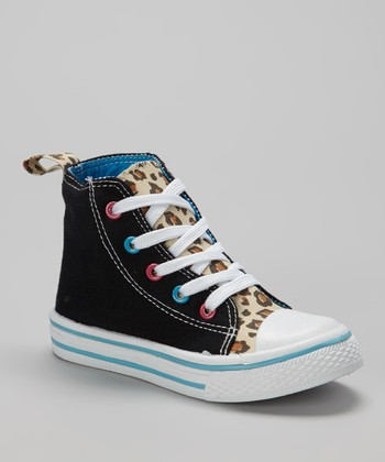 Black & Tan Leopard Hi-Top Sneaker