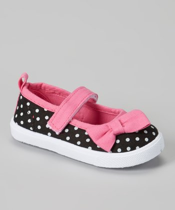 Black & Pink Polka Dot Mary Jane Sneaker