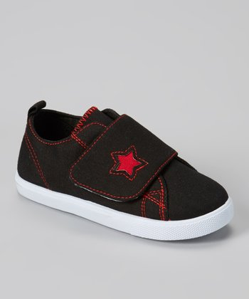 Black & Red Star Sneaker