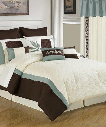 Mint & Chocolate Anna Lavish Home Bedroom Set